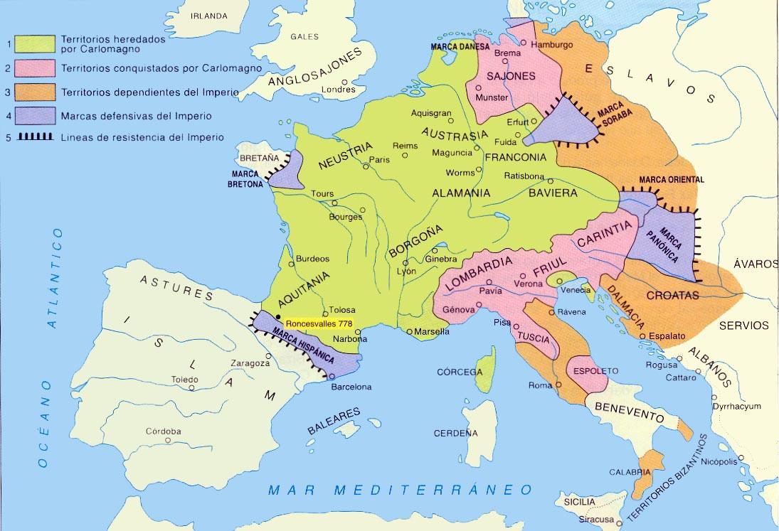 El Tratado de Verdún (843) - El Reparto del Imperio Carolingio
