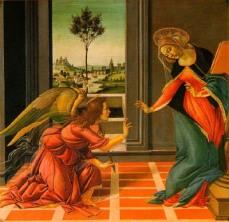 La anunciación: Botticelli